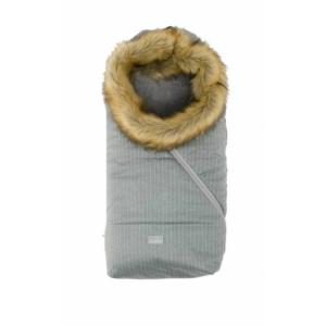 Nuvita AW Ovetto Pop bundazsák szőrmével 80 cm - Pinstripe Gray/Beige - 9236