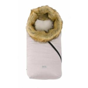 Nuvita AW Ovetto Pop bundazsák szőrmével 80 cm - Melange Pink Gray/Beige - 9236