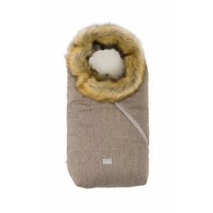 Nuvita AW Ovetto Pop bundazsák szőrmével 80 cm -  Melange Biscuit/Beige - 9236