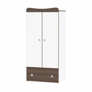 Lorelli Exclusive 2 ajtós szekrény - white and walnut