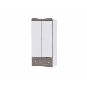 Lorelli Exclusive 2 ajtós szekrény - white and coffe