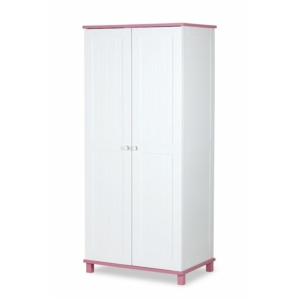 Klups Porto kétajtós szekrény - fehér/rózsaszín