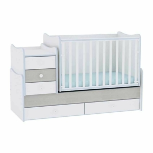 Lorelli Maxi Plus kombi kiságy 70x160 cm - Fehér & Kék