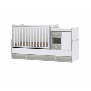 Lorelli Minimax Kombi Ágy 72 x 190 - White & Artwood / Fehér & Artwood