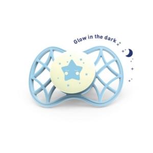 Nuvita Air .55 Cool ! Éjszakai Cumi Védőkupakkal 0 Hó+ - Glow Aquamarine - 7064