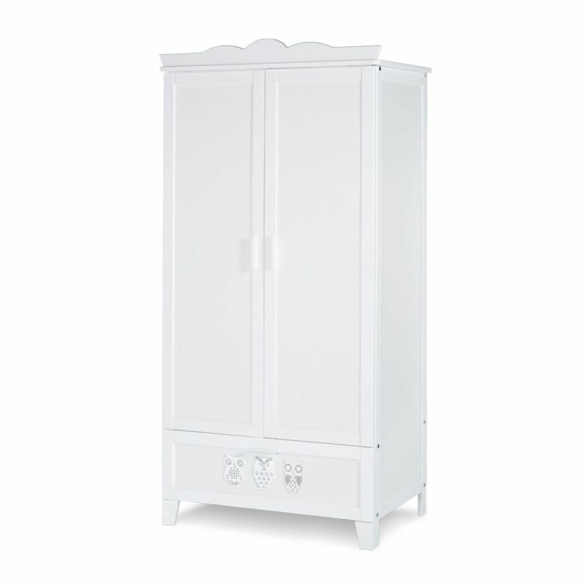 Klups Marsell kétajtós szekrény - fehér