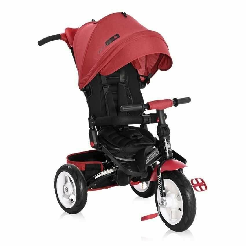 Lorelli Jaguar Air tricikli - Red & Black Luxe